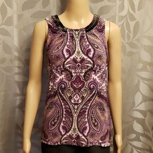 Paisley Stretchy Tank Top